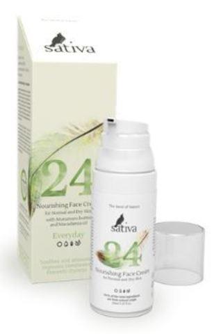 Sativa Крем для лица питательный №24 для нормального и сухого типа кожи 50 мл