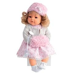 Munecas Antonio Juan Озвученая кукла Белла в белом, (плачет) 42 см (1669W)
