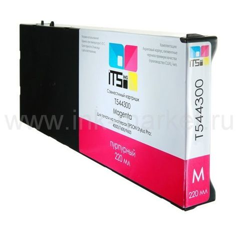 Совместимый картридж для Epson Stylus Pro 4000, 7600, 9600 Magenta Pigment, 220 мл (М0000003954)