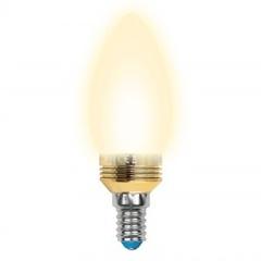 Лампа светодиодная (10058) E14 5W 3000K свеча матовая LED-C37P-5W/WW/E14/FR ALC02GD