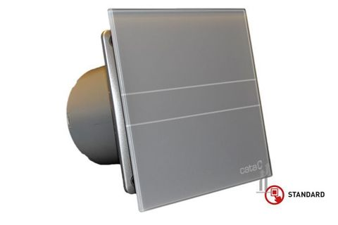 Вентилятор накладной Cata E 100 GST Серебро (таймер)