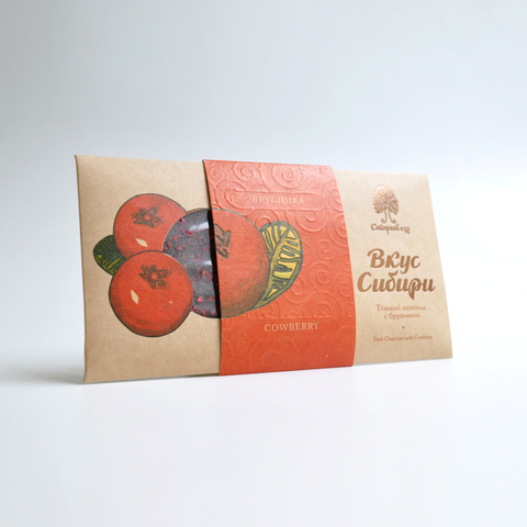 Шоколад темный Вкус Сибири с брусникой Сибирский Кедр 100 г