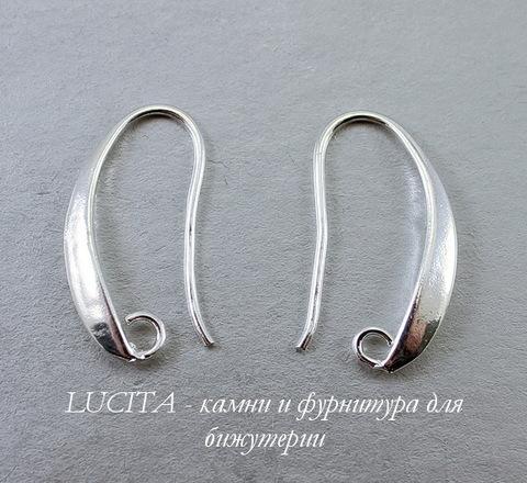 Швензы - крючки, 20х2 мм (цвет - серебро), пара