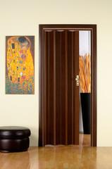 Дверь гармошка, цвет венге,  размер 87 х 203(Н)