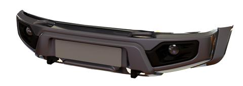 Композитный передний бампер УАЗ Патриот, Пикап, Карго с фарами под покраску АВС-Дизайн