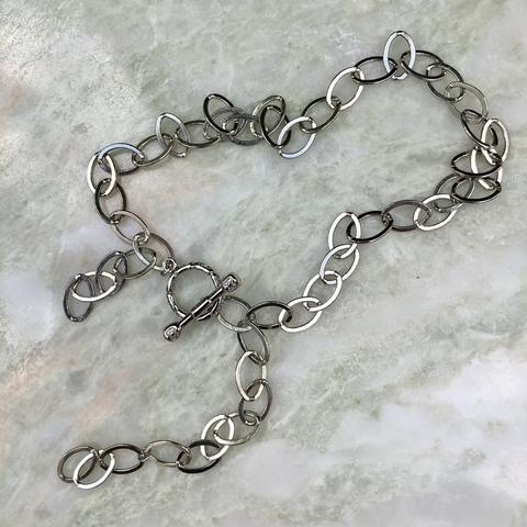 Цепь для букв двойная, серебряный цвет