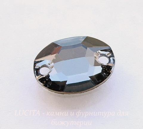 3210 Пришивные стразы Сваровски овальные Crystal Silver Night (10х7 мм) (41)