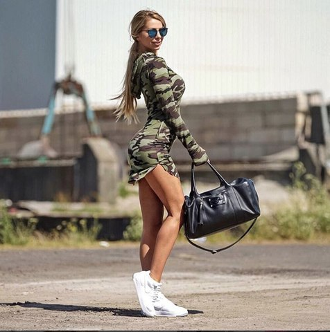 Платье All4sport Camo Long Sleeve