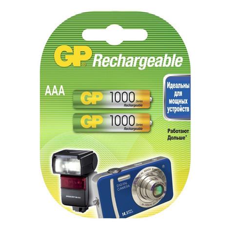 Аккумулятор GP 1000mAh АAA/HR03 NiMH бл/2