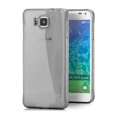 Прозрачный чехол-накладка для Samsung Galaxy Alpha