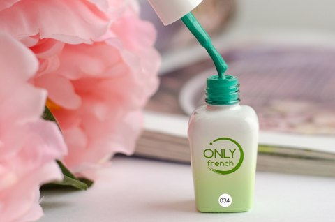 Гель-лак Only French, Green Touch №034, 7ml