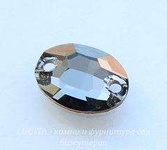 3210 Пришивные стразы Сваровски овальные Crystal Silver Night (10х7 мм)