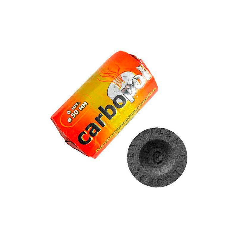Уголь Carbopol (50мм,6шт/уп)