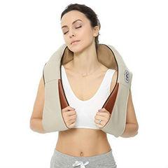 Роликовый массажер для шеи и плеч с ИК-прогревом