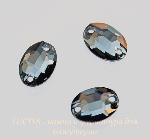 3210 Пришивные стразы Сваровски овальные Crystal Silver Night (10х7 мм) (45)