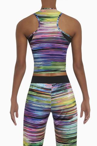 Разноцветная майка для фитнеса Tropical top 200 den