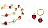 Комплект Carnavale Oro Piccolo (коричневые серьги Piccolo, ожерелье)