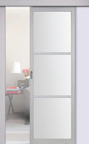 Перегородка межкомнатная Optima Porte 130.222, стекло матовое, цвет дуб серый, остекленная (за 1 кв.м)