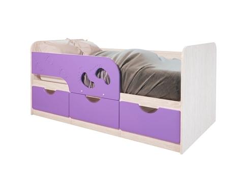 Кровать Минима Лего БТС дуб атланта, лиловый сад