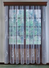 Готовая штора. Органза с серебряной вышивкой (Свечи)