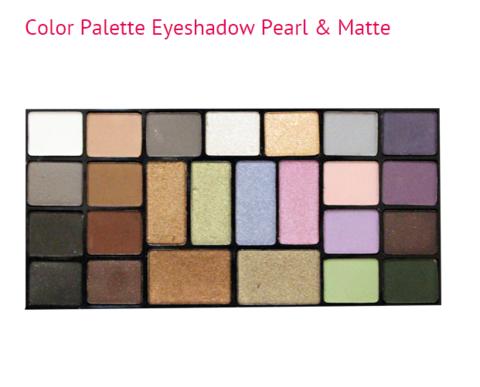 ТФ Тени Набор 25цветные Pearl&Matte тон 03 СТЕ-25-Бежево-серая гамма с голуб и фиолет оттен