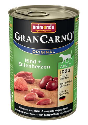 Консервы Animonda Gran Carno Original Adult с говядиной и сердцем утки для взрослых собак