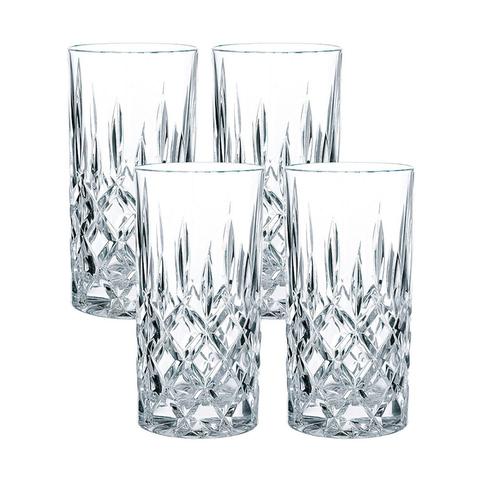 Набор из 4 высоких хрустальных стаканов NOBLESSE, 375 мл