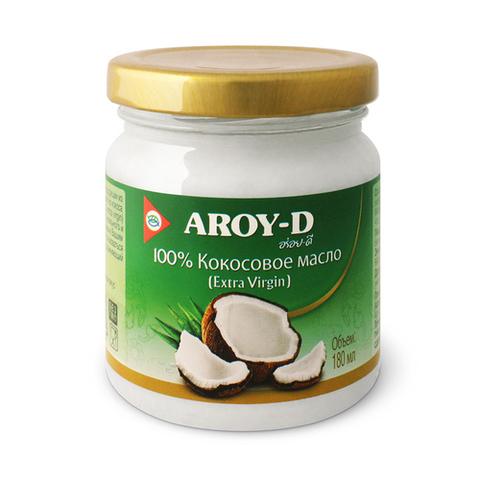 Кокосовое масло 100% Extra virgin Aroy-D, 180 мл