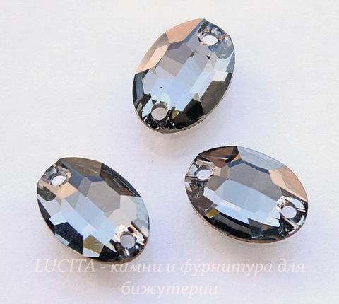 3210 Пришивные стразы Сваровски овальные Crystal Silver Night (10х7 мм) (39)