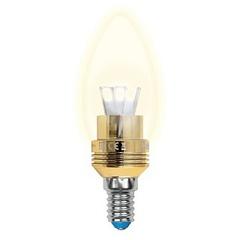 Лампа светодиодная (10057) E14 5W 3000K свеча прозрачная LED-C37P-5W/WW/E14/CL ALC02GD