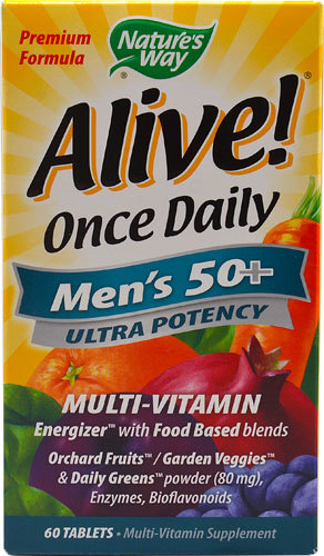Мультивитамины для мужчин Nature's Way Alive!® Once Daily Men's 50 plus Multi-Vitamin -- 60 Tablets Natures-Way-Alive-Once-Daily-Mens-50-plus-Multi-Vitamin-033674156919.jpg