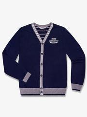 BSW000778 пиджак детский, синий-серый