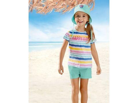 Комплект для девочки футболка+шорты+панама Lupilu