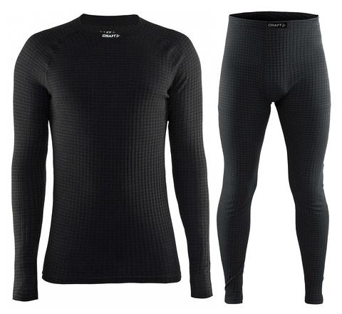 Комплект термобелья Craft Warm Wool мужской Black
