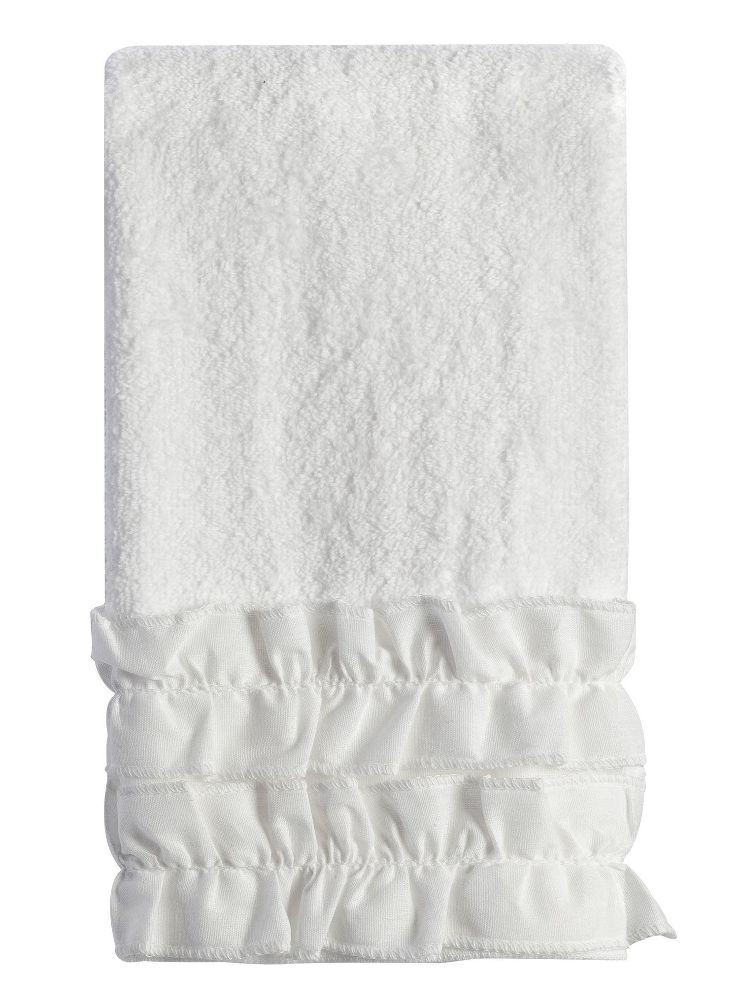Полотенце 27х42 Creative Bath Ruffles белое
