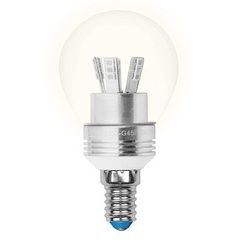 Лампа светодиодная (08009) E14 5W 3000K шар матовый LED-G45P-5W/WW/E14/FR ALC02SL
