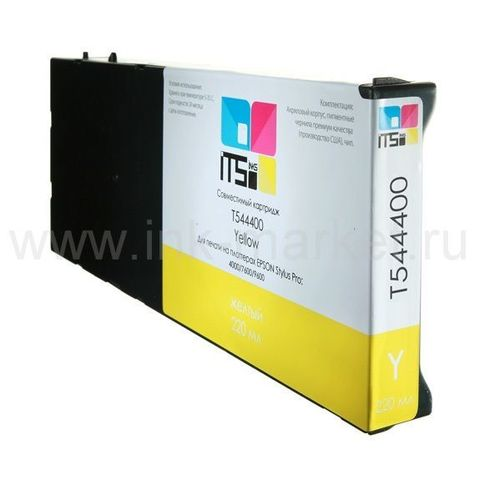 Совместимый картридж для Epson Stylus Pro 4000, 7600, 9600 Yellow Pigment, 220 мл