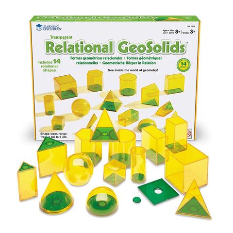 Набор объемных геометрических фигур Взаимосвязи, 14шт., Learning Resources
