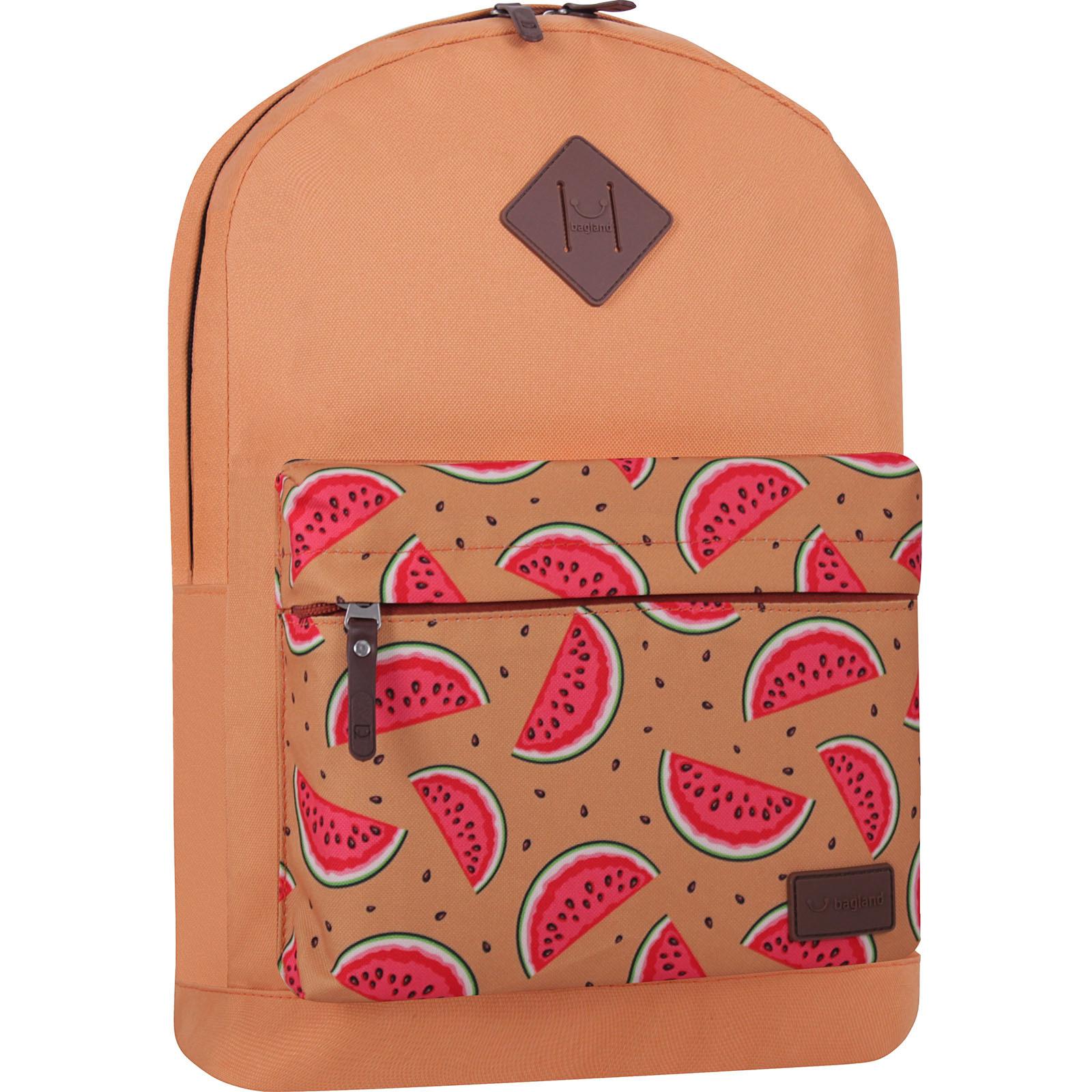 Городские рюкзаки Рюкзак Bagland Молодежный W/R 17 л. Рыжий 736 (00533662) IMG_7344_суб736_-1600.jpg