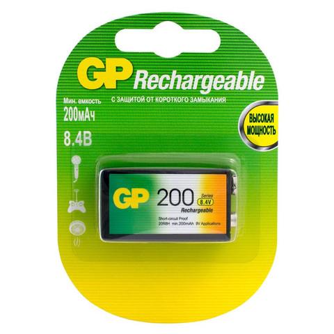 Аккумулятор GP 200 mAh Крона  NiMH бл/1 GP20R8Н-2СRU1