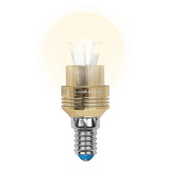 Лампа светодиодная (10062) E14 5W 3000K шар матовый LED-G45P-5W/WW/E14/FR ALC02GD