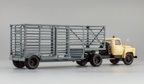 GAZ-52-06 semitrailer for carriage of packagings sand DIP 1:43