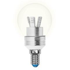 Лампа светодиодная (08007) E14 5W 3000K шар прозрачный LED-G45P-5W/WW/E14/CL ALC02SL