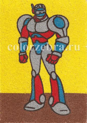 Песочный трафарет Робот для мальчиков А4