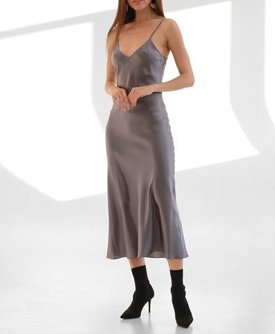 Платье-комбинация Серое