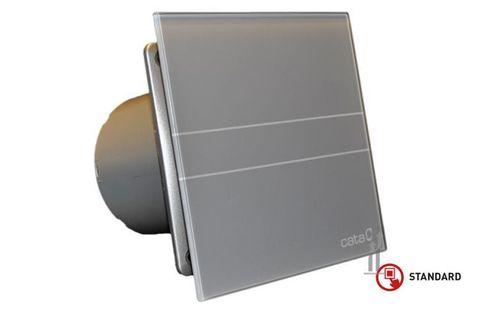 Вентилятор накладной Cata E 100 GST Серебро, с обратным клапаном (таймер)