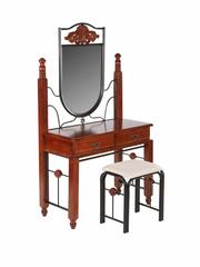 Туалетный столик с банкеткой AT-881 (MK-2029-RO) Темная вишня