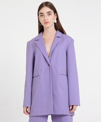 Пиджак лиловый из хлопка