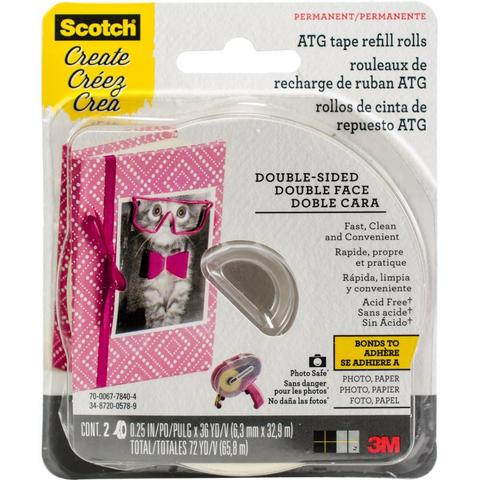 Сменные ролики  Scotch Advanced Tape Glider Acid-Free Refills 2 шт
