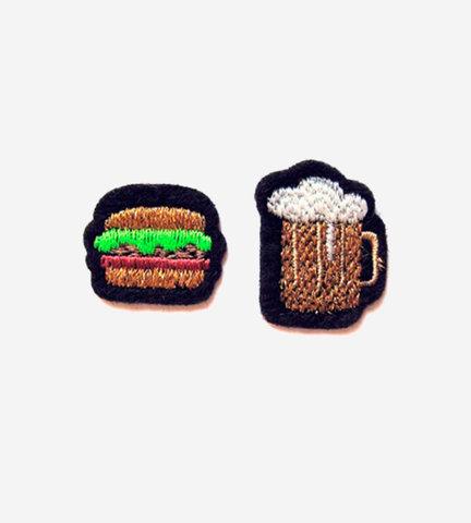 Набор патчей-заплаток  Hamburger&Beer
